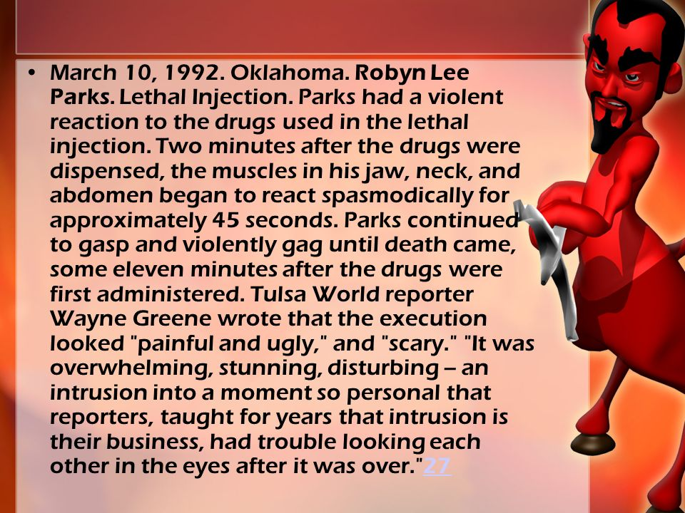 March 10, 1992. Oklahoma. Robyn Lee Parks. Lethal Injection.