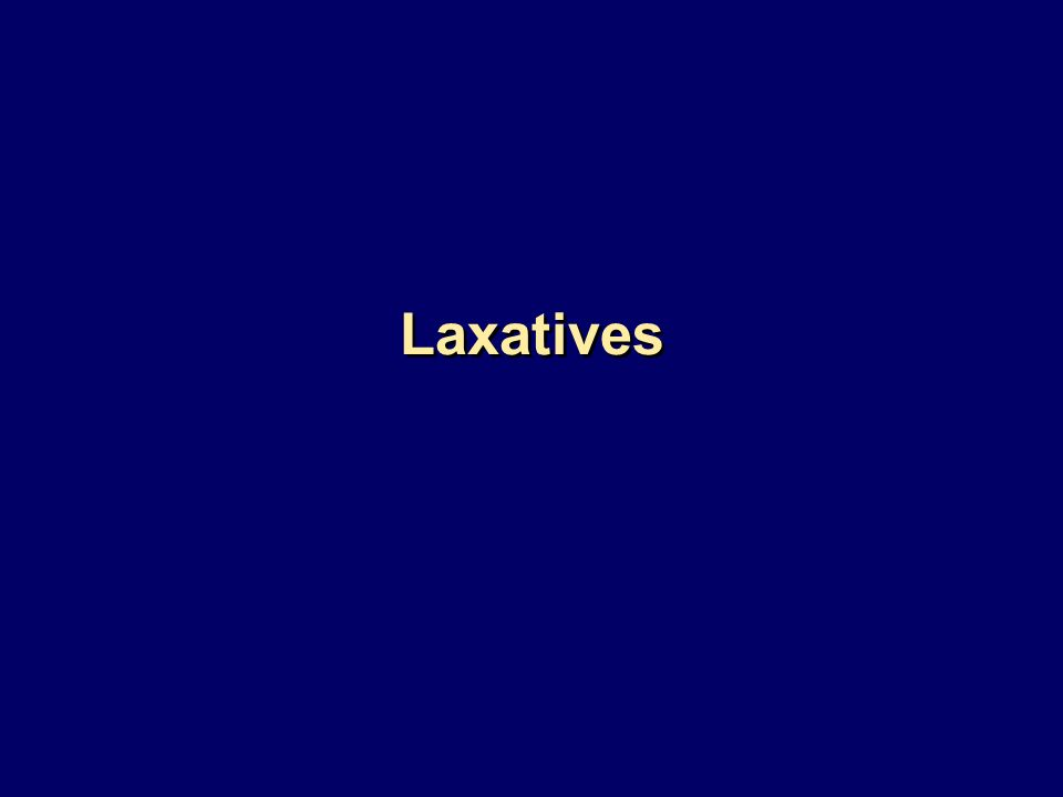 Laxatives