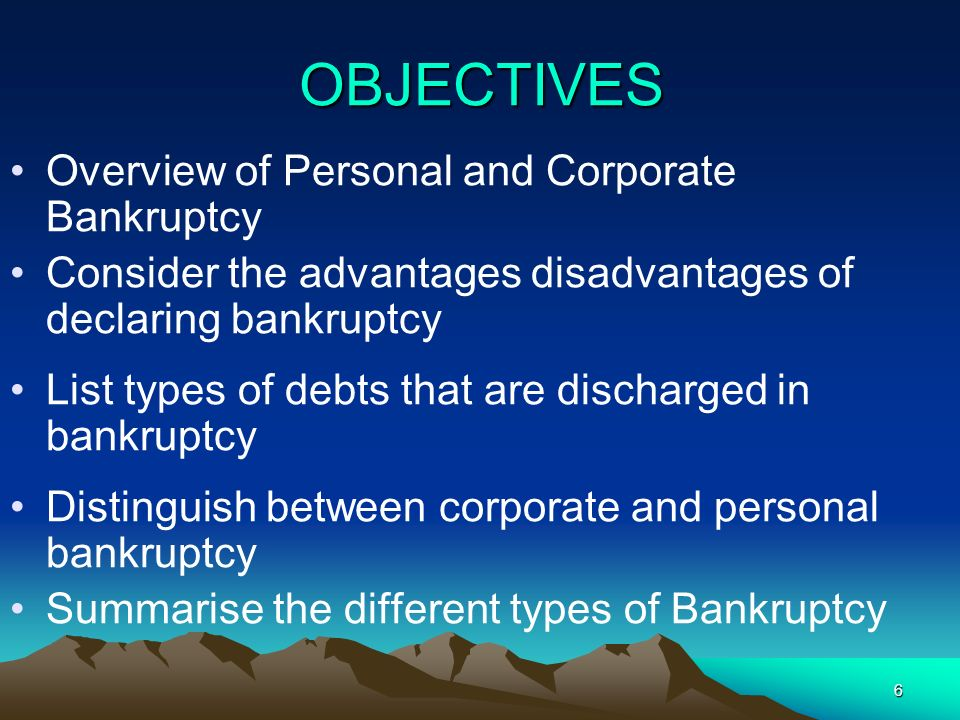47 The Effect of being Insolvent The directors start to become personally liable for the debts of the company unless they take positive actions and seek advice.