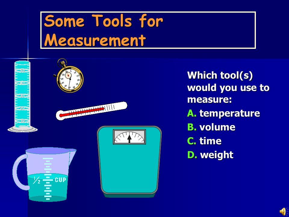 UNITS OF MEASUREMENT Use SI units based on the metric system LengthMassVolumeTimeTemperature Meter, m Kilogram, kg Seconds, s Celsius degrees, ˚C kelv