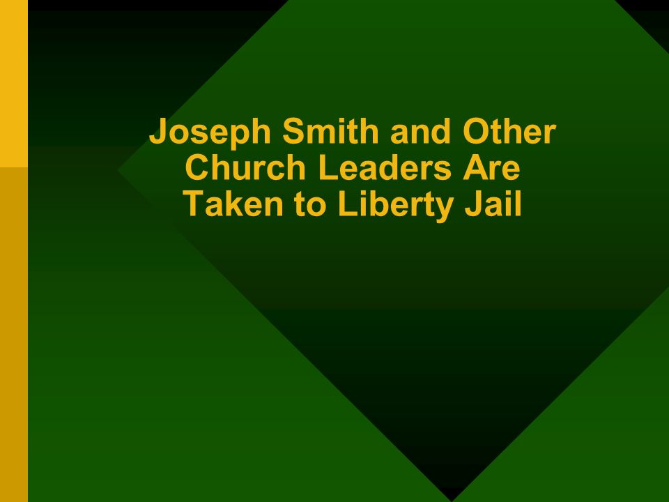 Joseph Smith and Other Church Leaders Are Taken to Liberty Jail