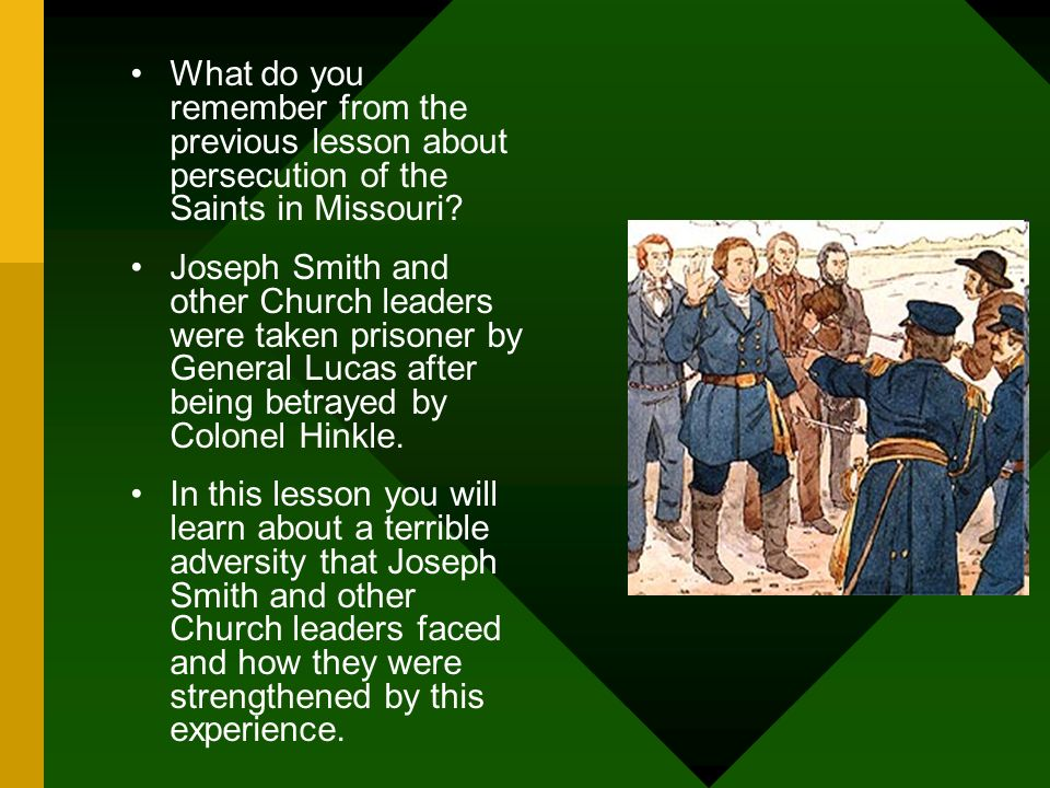 Joseph Smith and Other Church Leaders Are Arrested