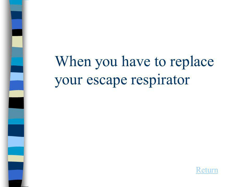 When you have to replace your escape respirator Return