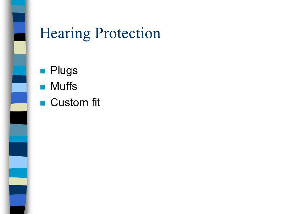 Hearing Protection n Plugs n Muffs n Custom fit