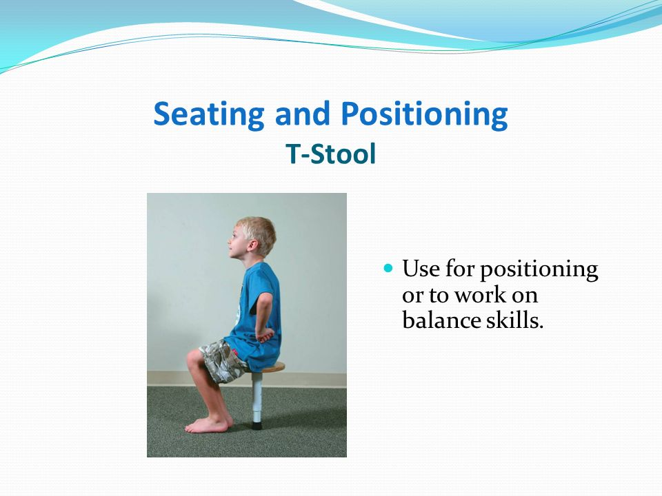Seating and Positioning Movin Sit Inflatable wedge that encourages correct seating posture.