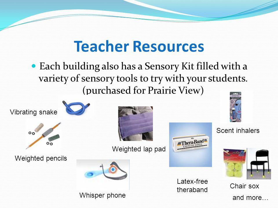 Teacher Resources Each building has a LoTTIE kit.