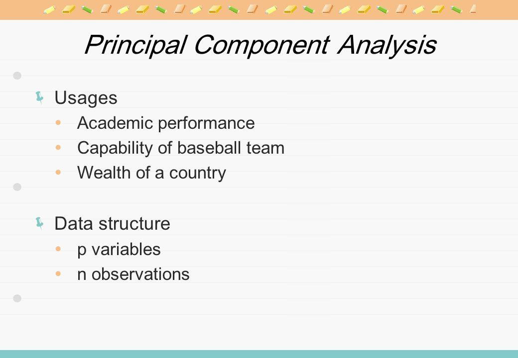 PCA Basic model Principal component vector Common factor vector Characteristics