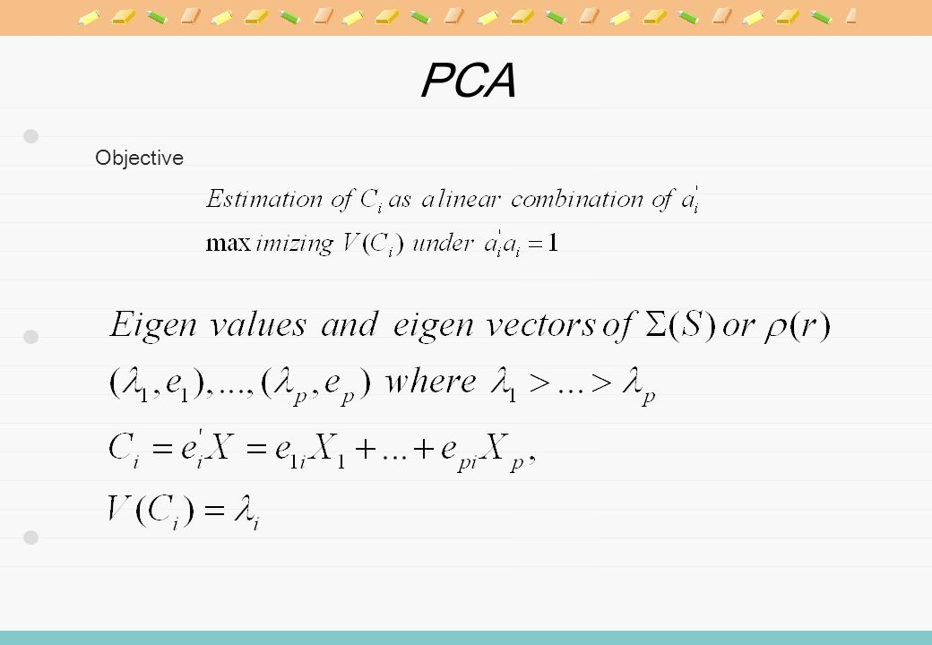 PCA Objective