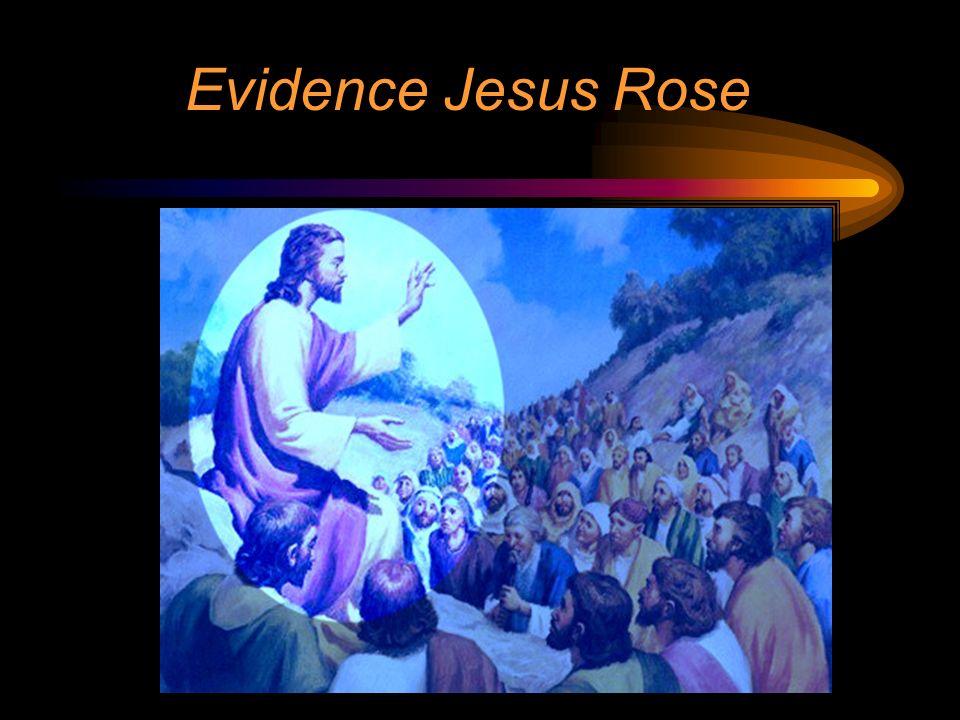 Evidence Jesus Rose