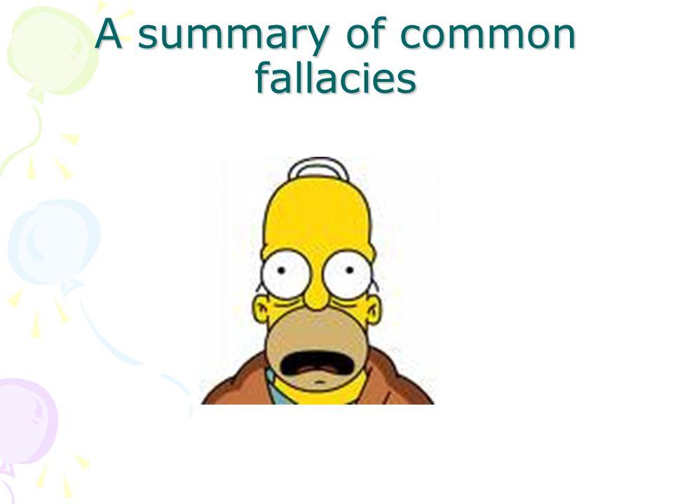 A summary of common fallacies