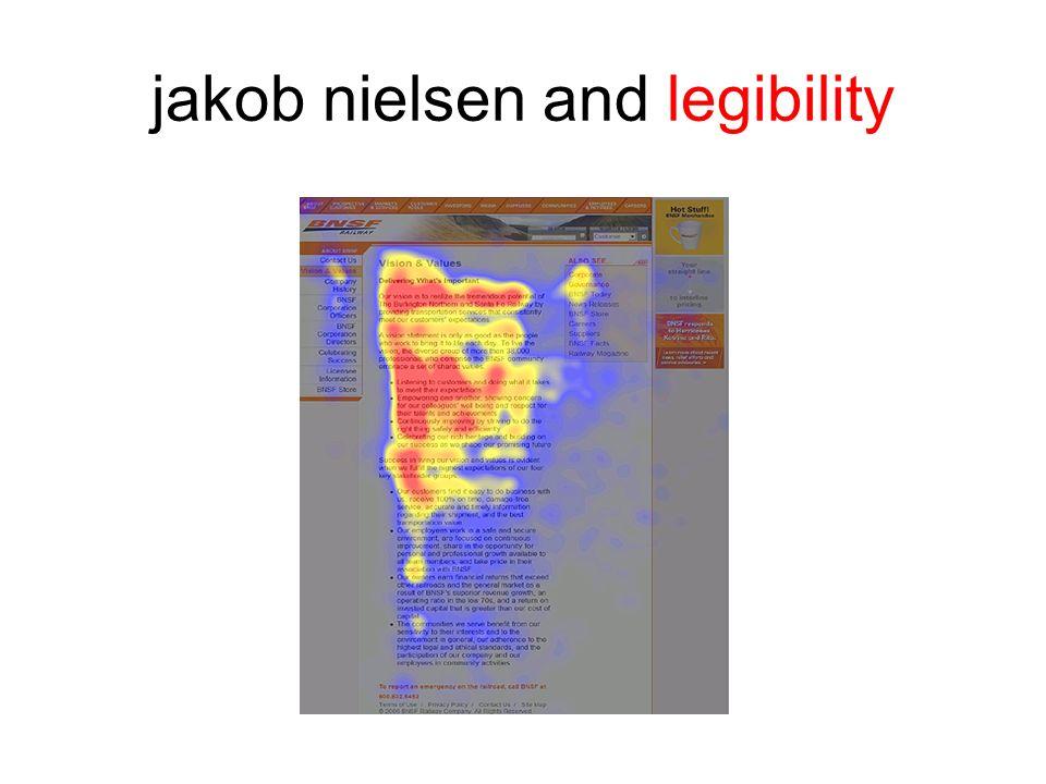 jakob nielsen and legibility