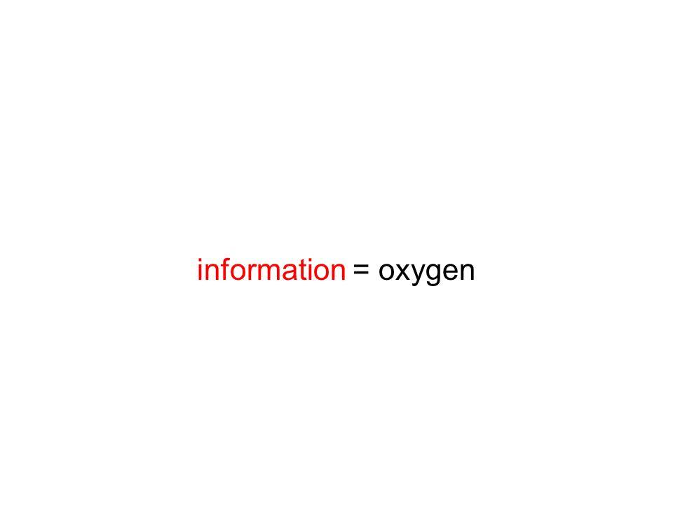 information = oxygen