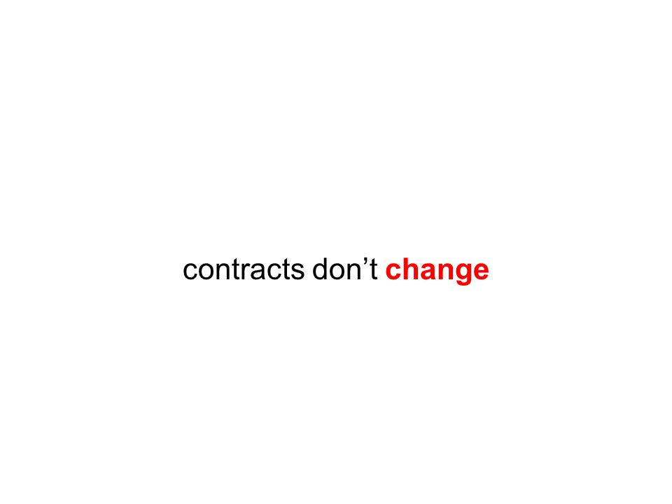contracts dont change