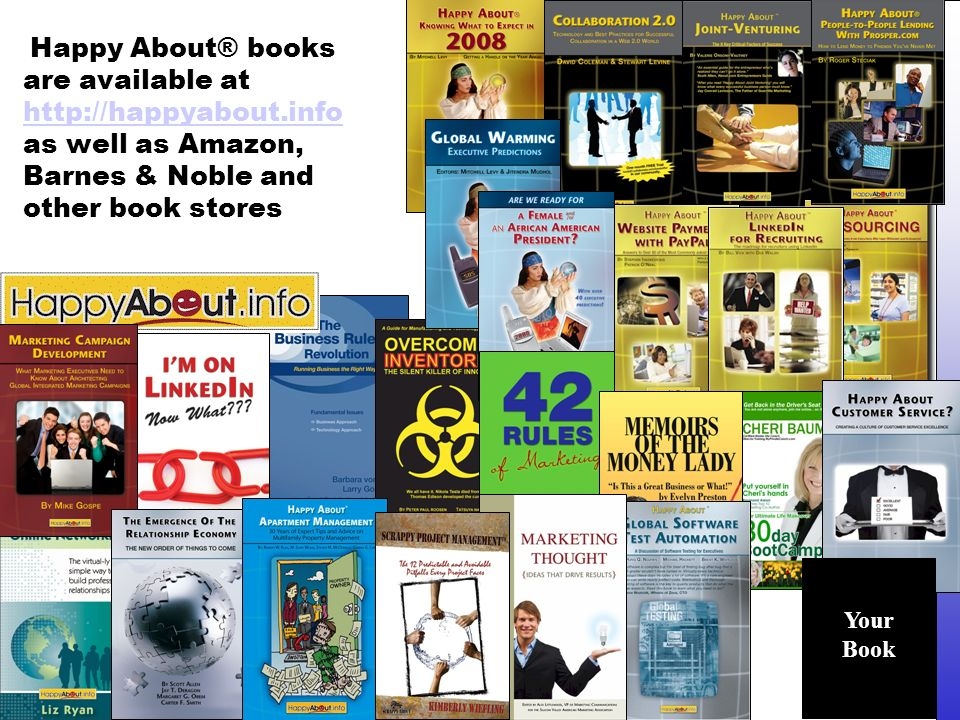 Copyright © 2008 People-OnTheGo www.people-onthego.com Happy About® books are available at http://happyabout.info as well as Amazon, Barnes & Noble and other book stores http://happyabout.info Your Book