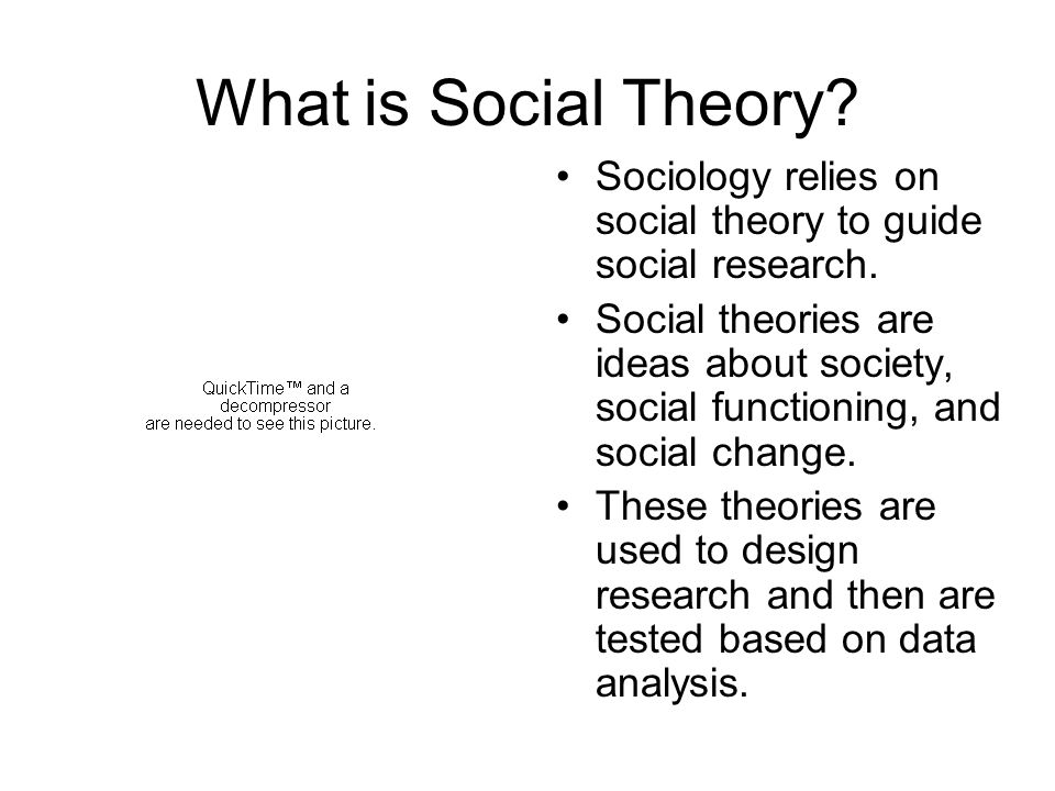 What is Social Theory? Sociology relies on social theory to guide social research. Social theories are ideas about society, social functioning, and so