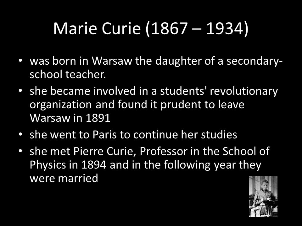 was born in Warsaw the daughter of a secondary- school teacher.