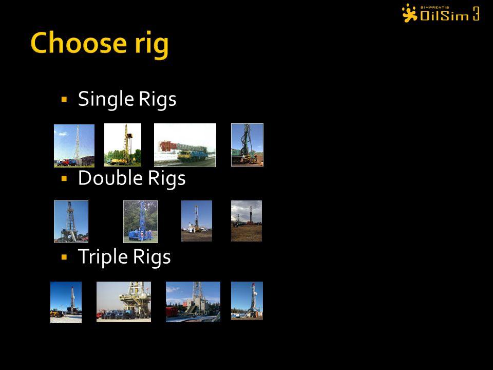 Single Rigs Double Rigs Triple Rigs
