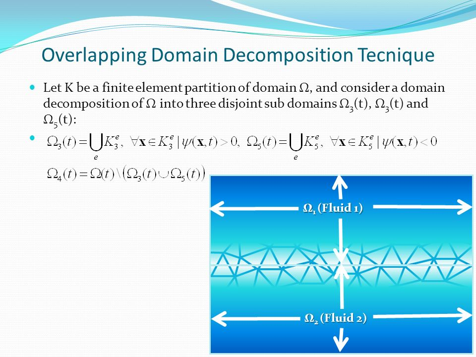 Overlapping Domain Decomposition Tecnique Let K be a finite element partition of domain Ω, and consider a domain decomposition of Ω into three disjoin