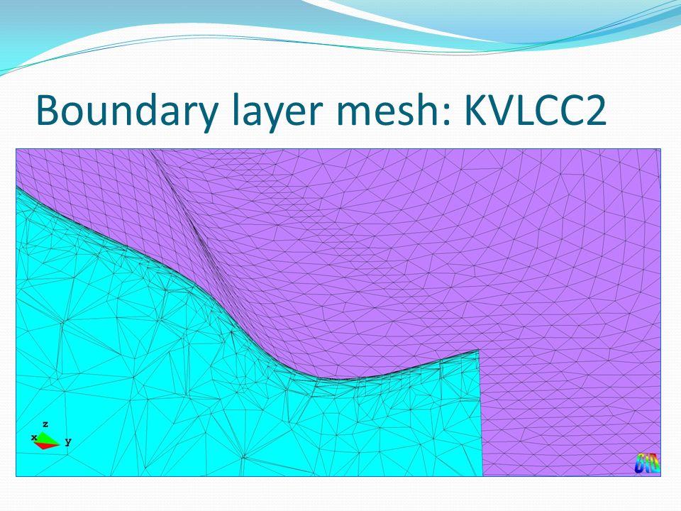 Boundary layer mesh: KVLCC2