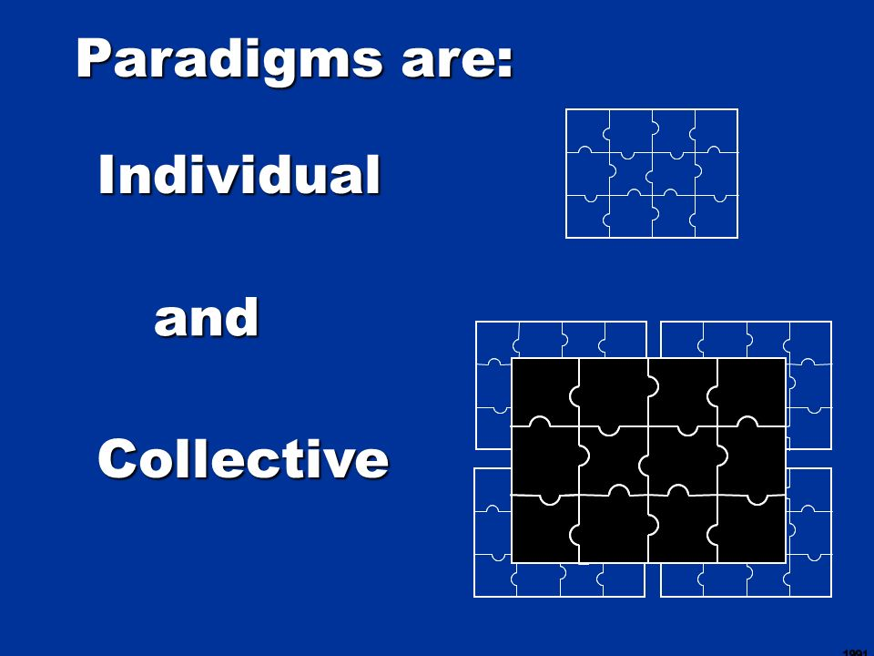Paradigms are: Individual and Collective