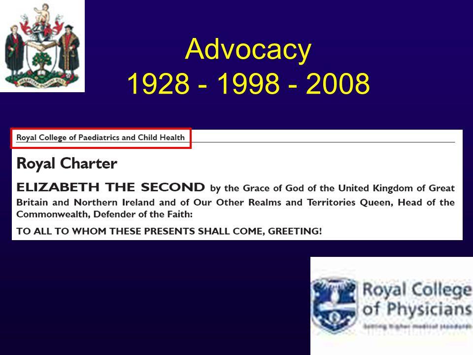 Advocacy 1928 - 1998 - 2008