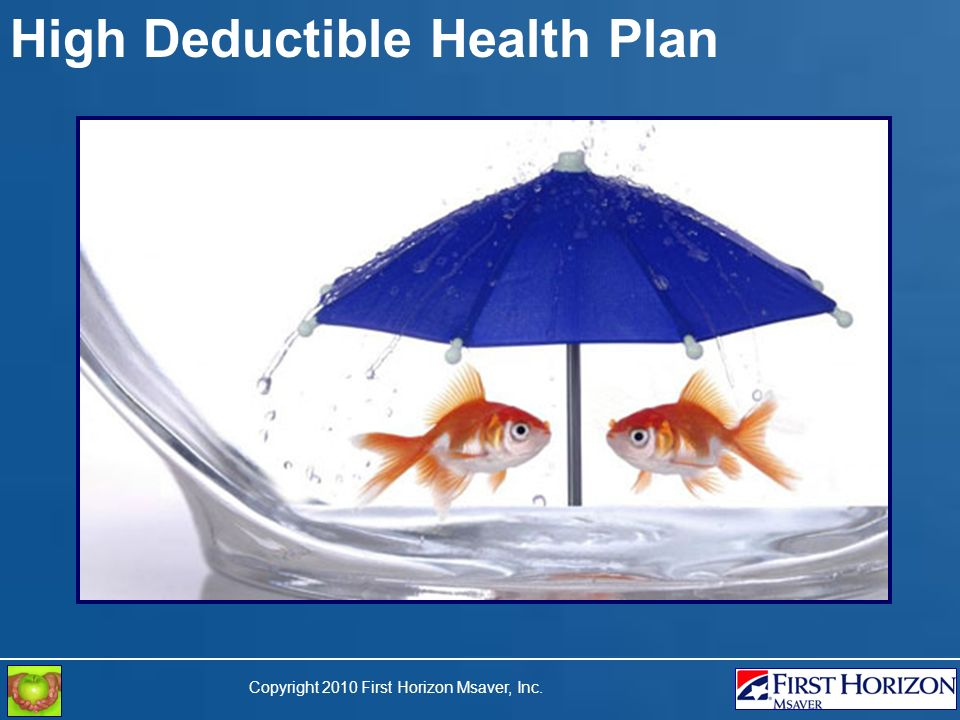 Copyright 2010 First Horizon Msaver, Inc. High Deductible Health Plan