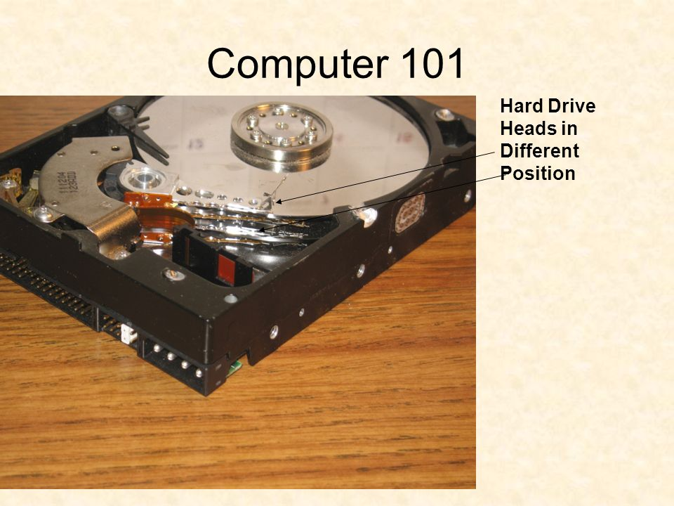 Computer 101 Hard Drive Heads in Different Position
