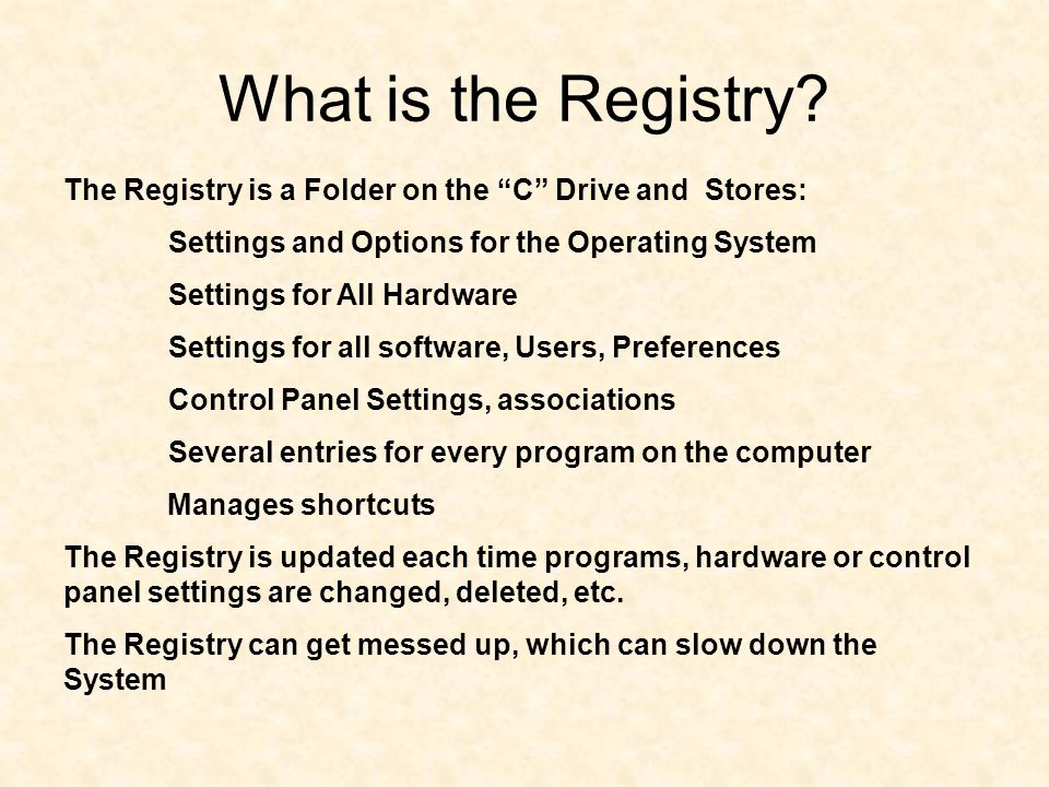 What is the Registry.