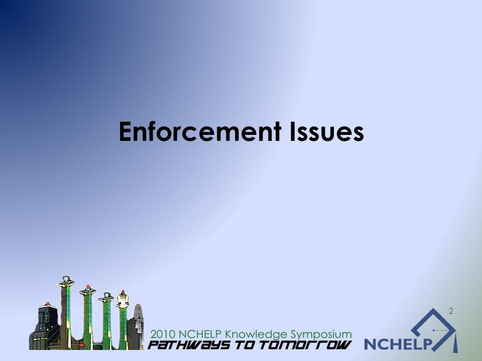 Enforcement Issues 2