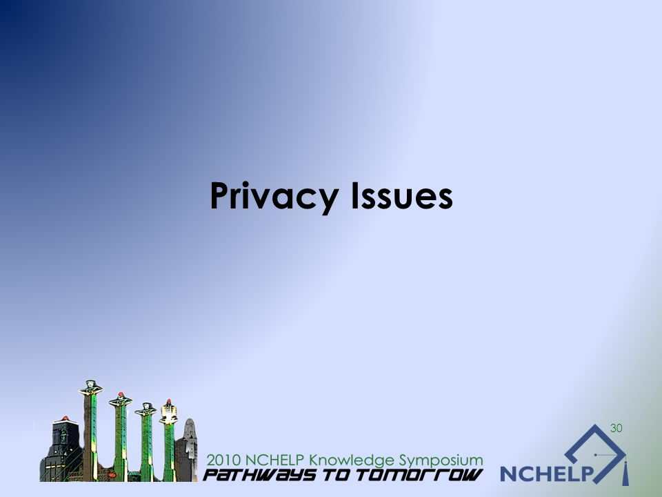 Privacy Issues 30