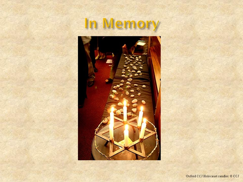 Oxford CCJ Holocaust candles: © CCJ