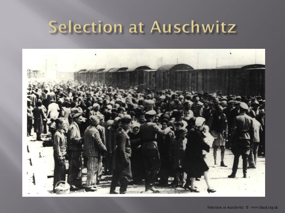 Selection at Auschwitz: © www.hmd.org.uk