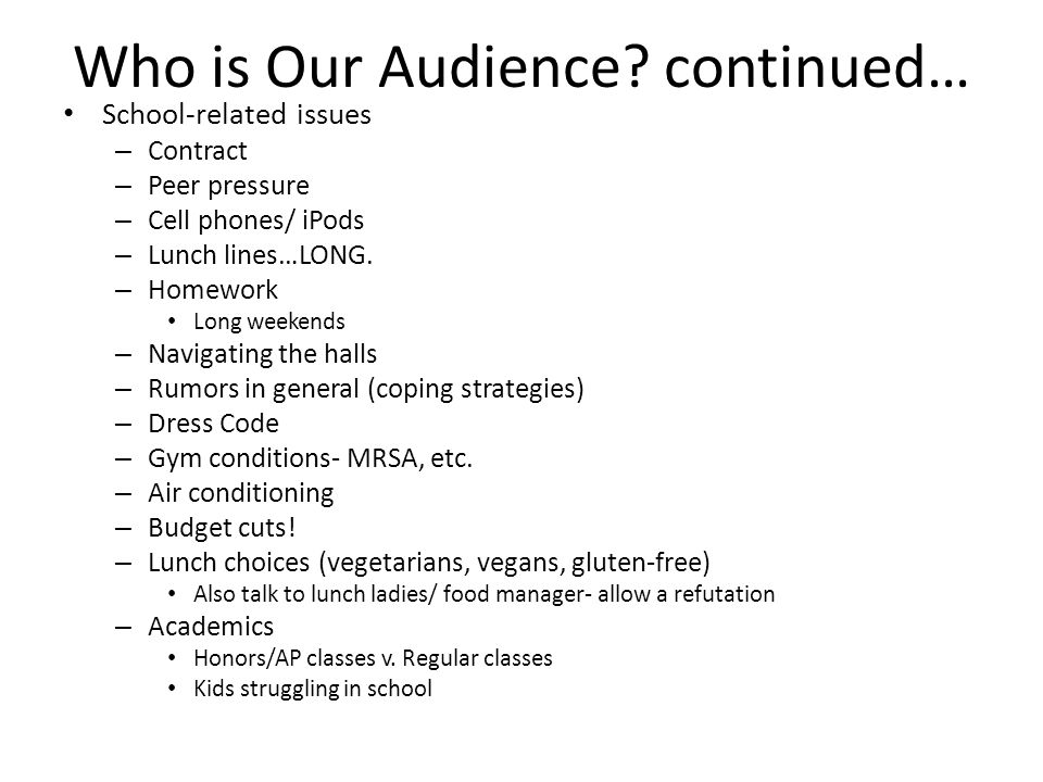 Who is Our Audience.