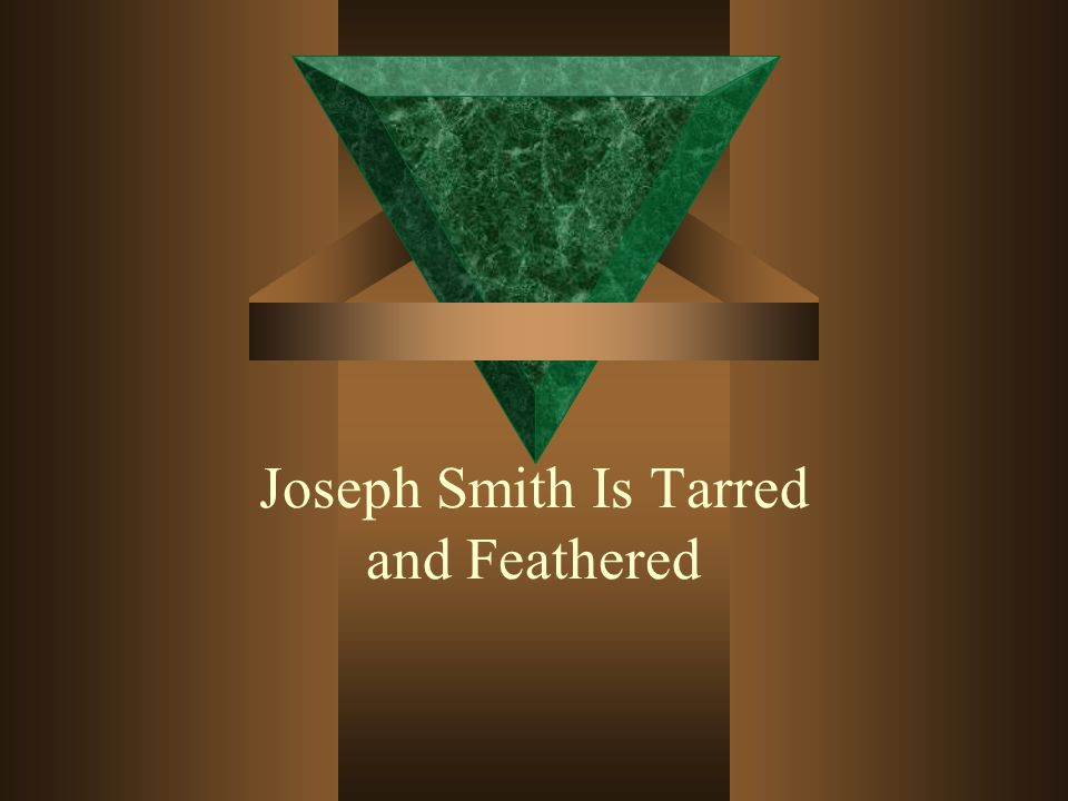 When Joseph finally got home, Emma saw him and fainted, because she thought the tar covering Joseph was blood.