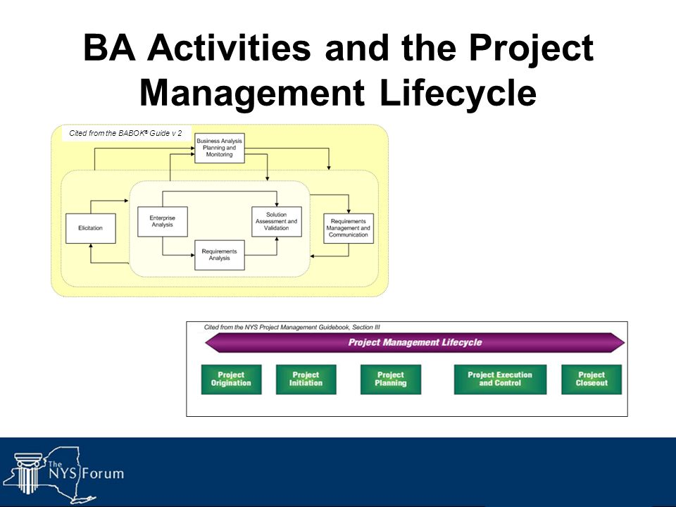 BA Activities and the Project Management Lifecycle Cited from the BABOK ® Guide v 2
