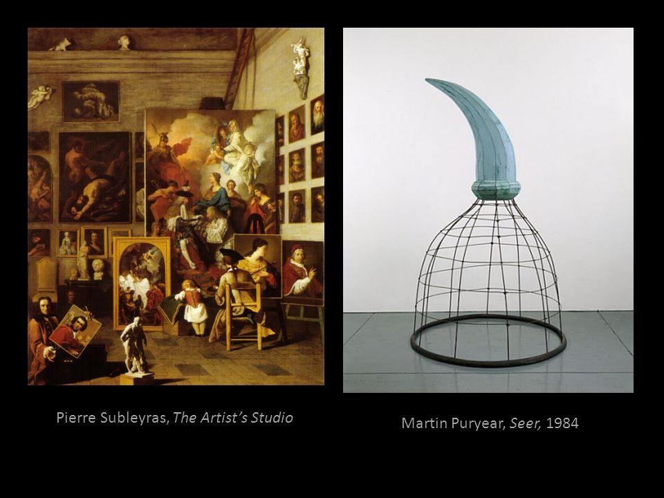 Pierre Subleyras, The Artists Studio Martin Puryear, Seer, 1984