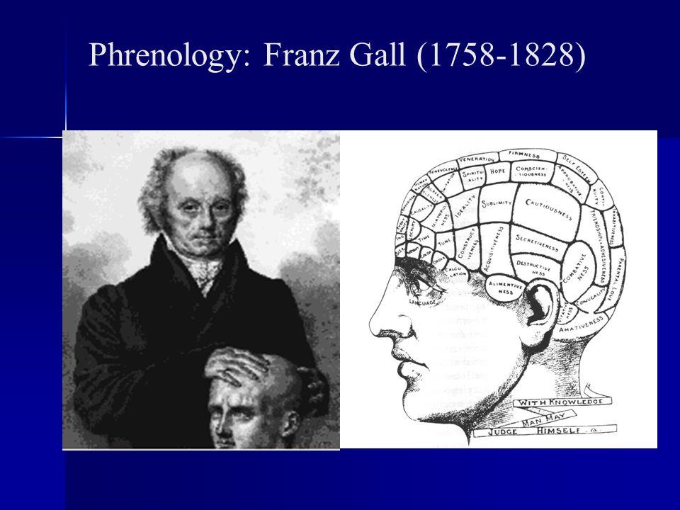 Phrenology: Franz Gall (1758-1828)
