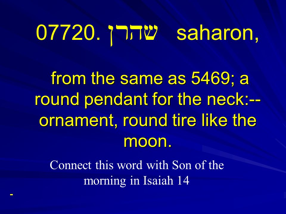 from the same as 5469; a round pendant for the neck:-- ornament, round tire like the moon. 07720. Nrhv saharon, from the same as 5469; a round pendant