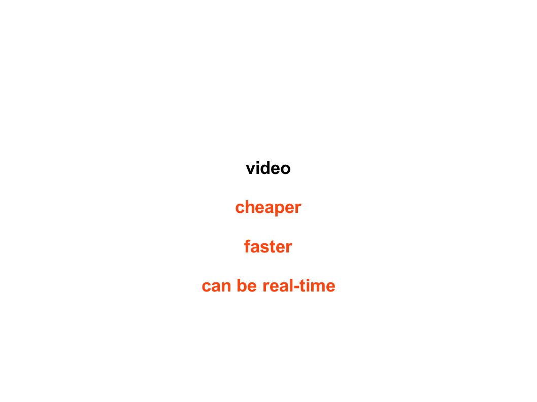 video cheaper faster can be real-time
