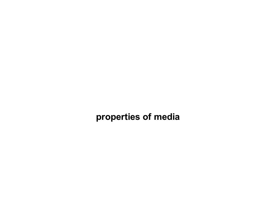 properties of media