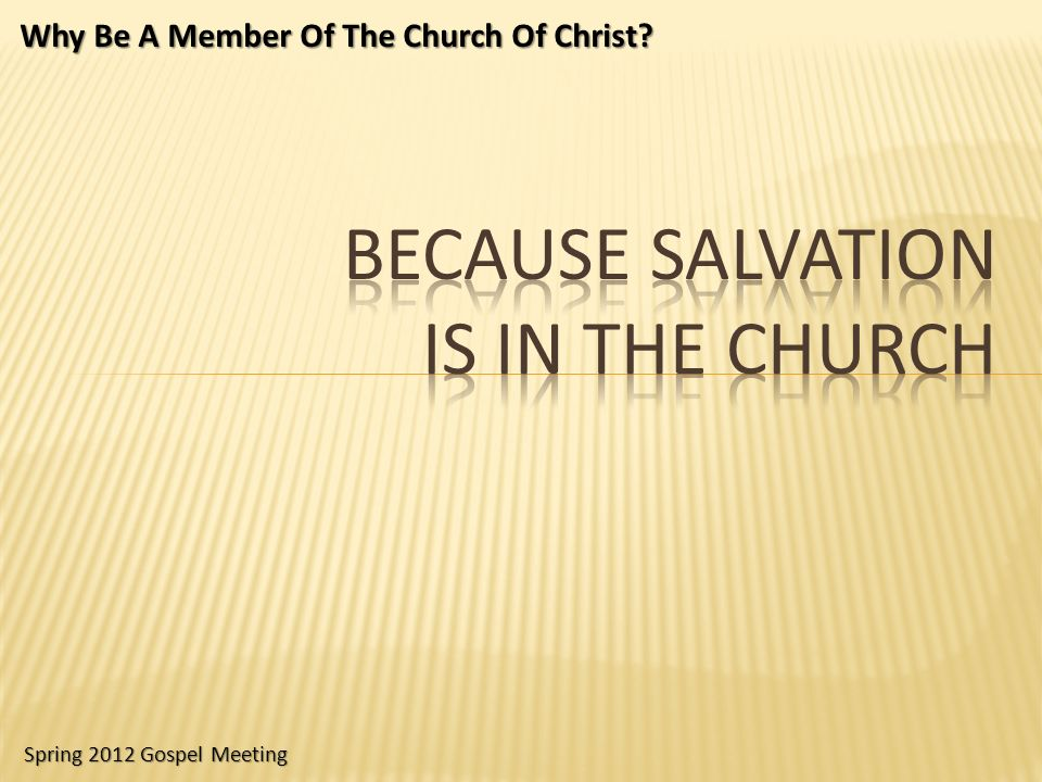 Reconciliation is in the church.Ephesians 2:16 Man needs reconciliation.