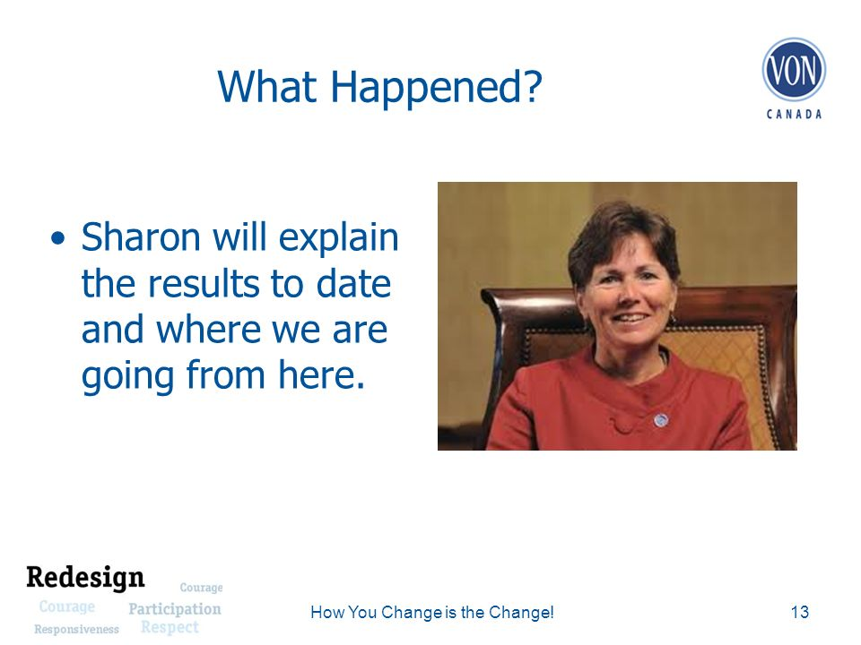 What Happened. Sharon will explain the results to date and where we are going from here.