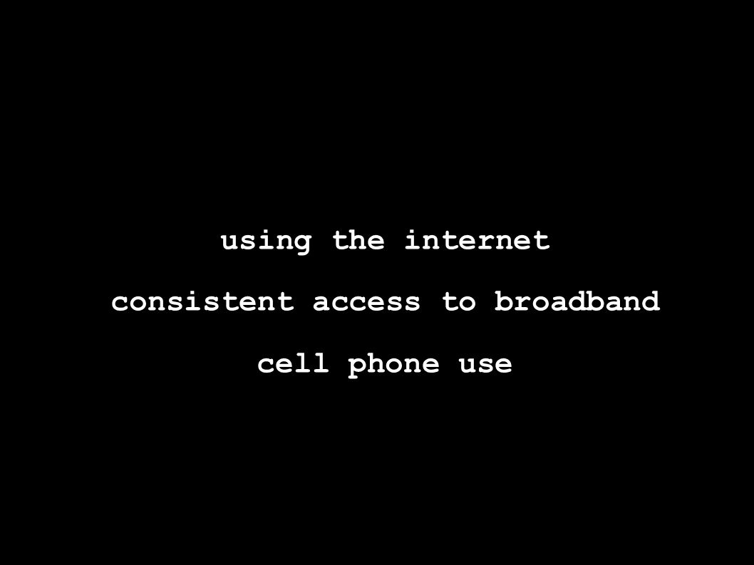 using the internet consistent access to broadband cell phone use