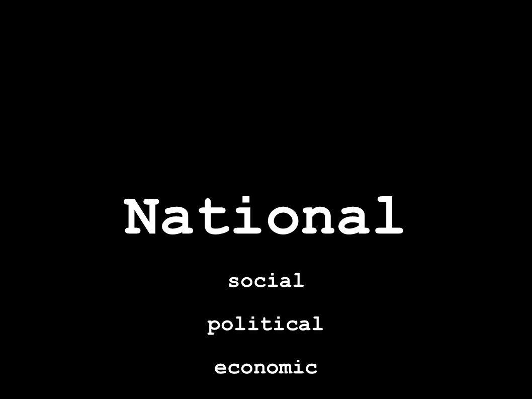 social political economic
