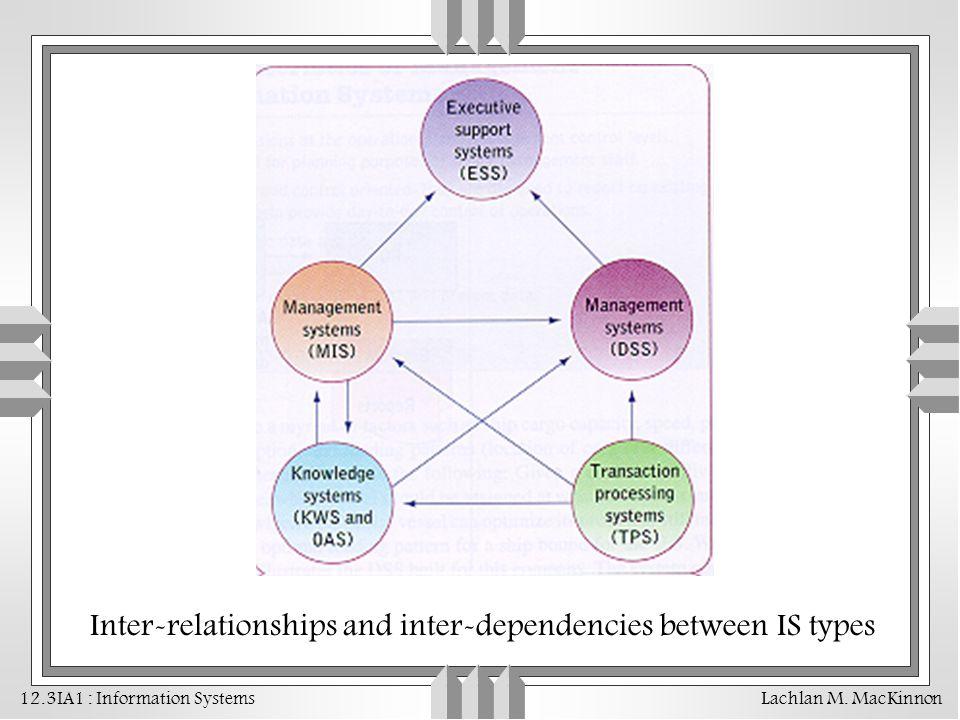 Inter-relationships and inter-dependencies between IS types