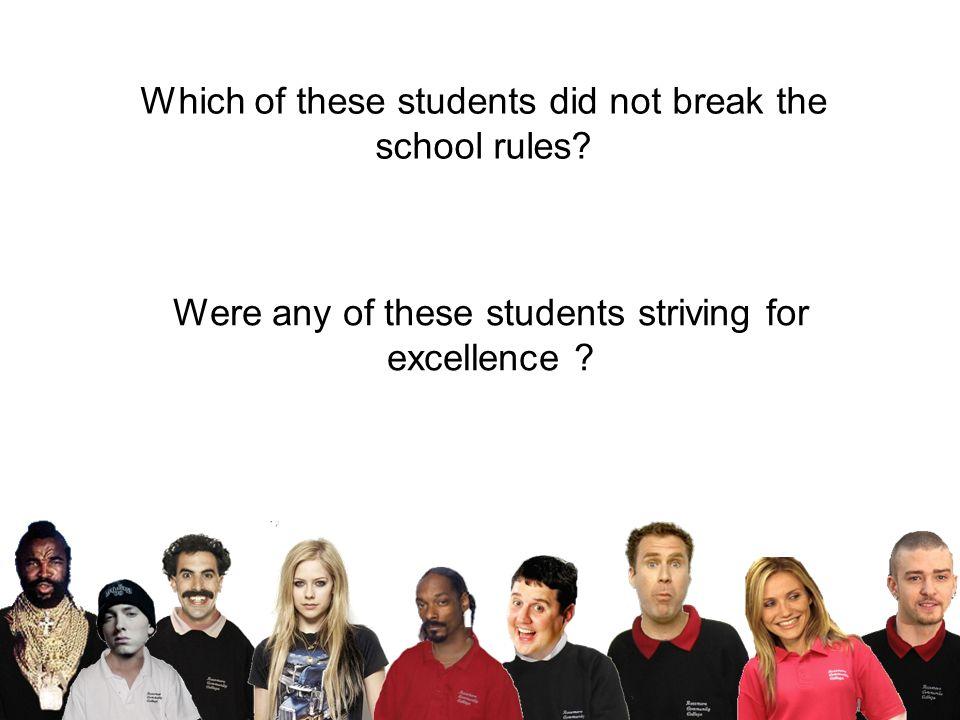 Which of these students did not break the school rules.