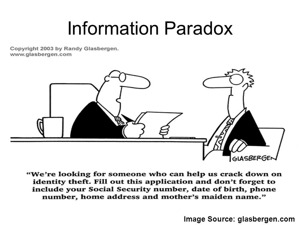Information Paradox Image Source: glasbergen.com