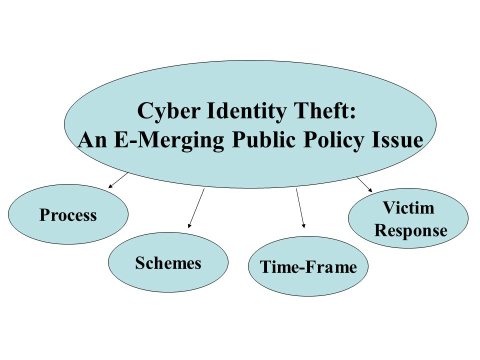 Cyber Identity Theft: An E-Merging Public Policy Issue Process Schemes Time-Frame Victim Response