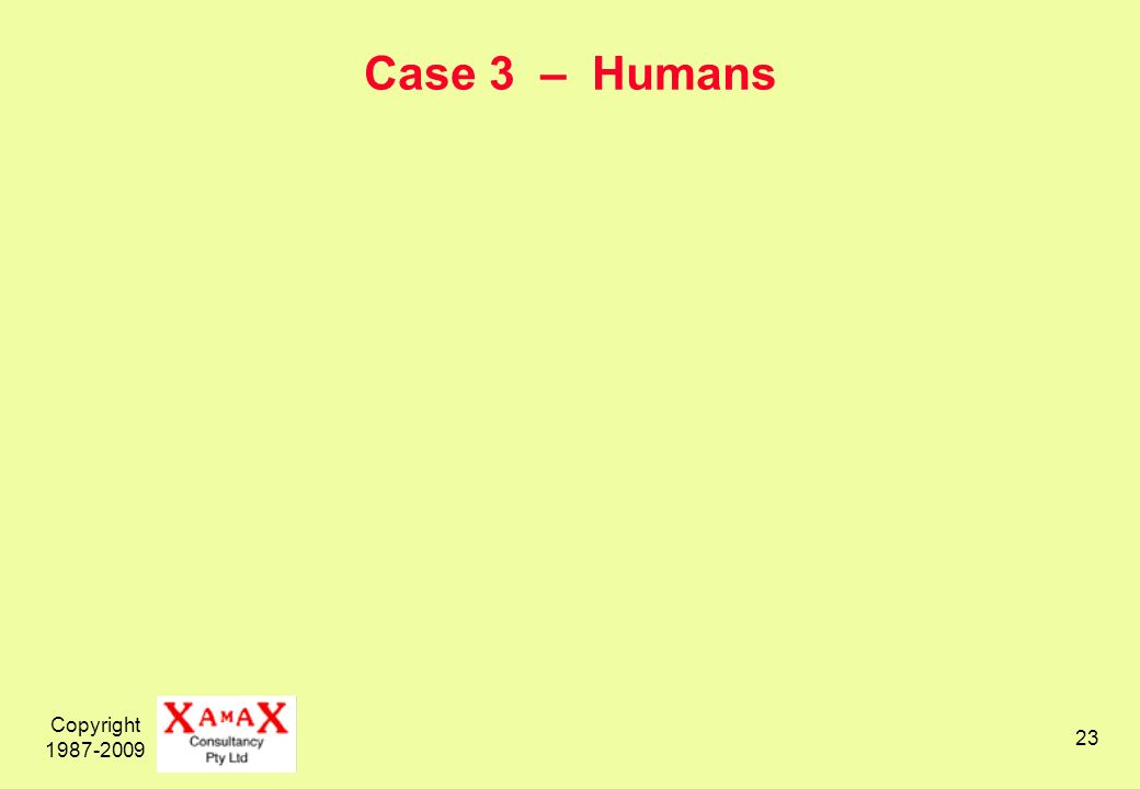 Copyright Case 3 – Humans