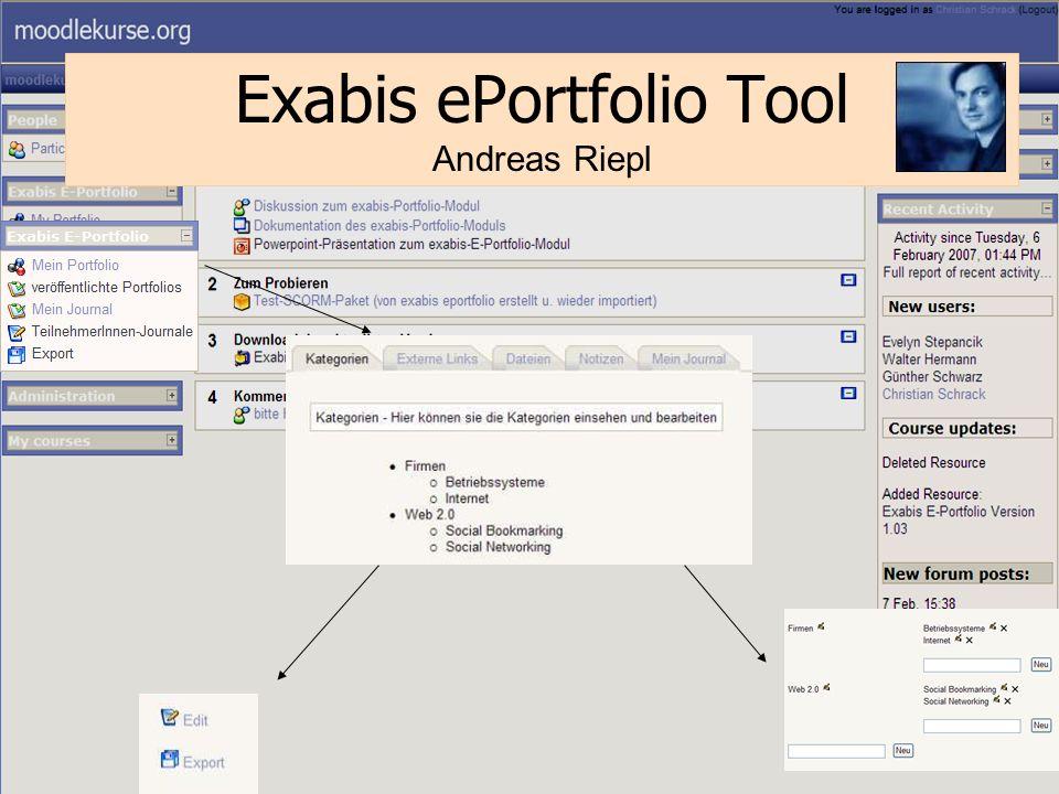 27 Exabis ePortfolio Tool Andreas Riepl